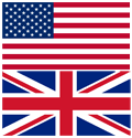 Images of the US and UK flags
