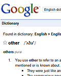 Cropped screenshot of the Google Dictionary