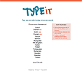 Screenshot of the TypeIt homepage