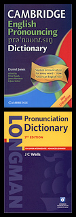 Covers of two pronunciation dictionaries