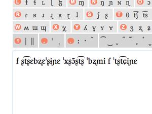 screenshot of the IPA keyboard
