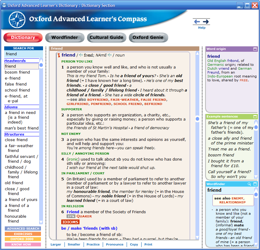 Comparative review of dictionaries for English learners